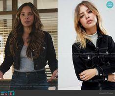 Cropped Denim Jacket, Leather Jacket, Alisha Boe, 13 Reasons, Other Outfits, Aesthetic Clothes, Black Denim, Stitching, Jackets