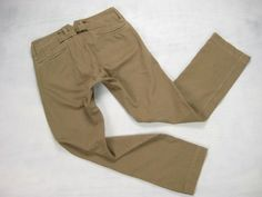 RRL Double RL Ralph Lauren beige cotton whipcord buckle-back work pants size 31 x 31.