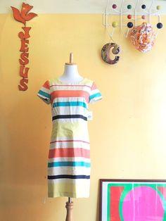 LINEN-brend Multi-Border Dress