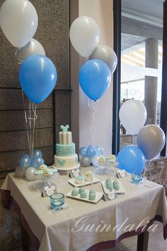 Pin by arsh brar on birthdays Baptism Party, Baby Party, Baby Shower Parties, Baby Shower Themes, Baby Boy Shower, Baby Shower Decorations, Balloon Decorations, Birthday Decorations, Baby Birthday