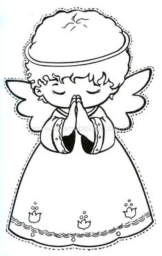 Christmas coloring pages for kids Angel Coloring Pages, Colouring Pages, Adult Coloring Pages, Coloring Books, Coloring Sheets, Christmas Angels, Christmas Art, Christmas Ornaments, Christmas Colors