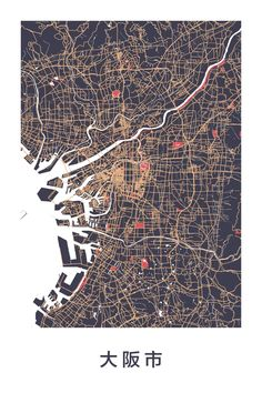 Amazing map art of Osaka, Japan Source: ræ | nordico