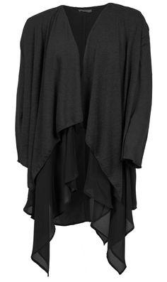 Mega fede Klassisk Sort Lag På Lag Cardigan Gozzip Modetøj til Damer i dejlige materialer