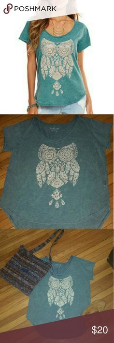 ❤ 4th of July sale! Miss Me Slouchy Tee Miss Me Slouchy Owl Tee. High low hem Miss Me Tops Tees - Short Sleeve