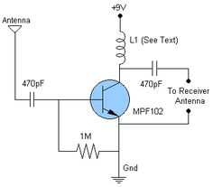FM, AM/MW and SW Antenna Amplifier | Circuit Diagram
