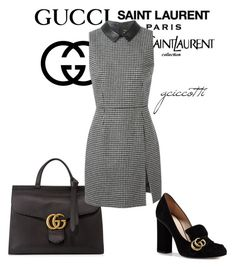 """""""YSL+Gucci Office"""" by gciccotti on Polyvore featuring moda, Gucci, Yves Saint Laurent, women's clothing, women's fashion, women, female, woman, misses e juniors"""