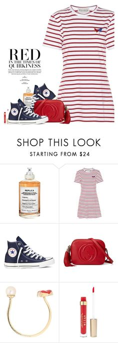 """""""Warm Weather Wardrobe"""" by hollowpoint-smile ❤ liked on Polyvore featuring Maison Margiela, Être Cécile, Converse, Gucci and Stila"""