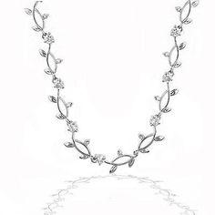 Silvertone Vineyard Necklace