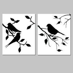 Birds of Feather Duo ensemble de 8 x deux 10 oiseaux par Tessyla