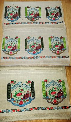 Embroidered 'yağlık' (large handkerchief, part of traditional festive costumes, usually worn in the waist belt).  From the Izmir region, late-Ottoman era, 19th century.  (Source: Antika Osmanlı Tekstil, Istanbul).