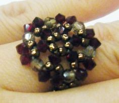 #Tutorial: Beaded #Ring T28  It's fun to make rings isn't it?  Here is another tutorial for #beginners.   You can mix and match with colors to come up with #beautifulrings yourself.    For more information, click here: http://www.diylessons.org/Tutorial-Beaded-Ring-T28,name,100548,item_id,0,ad_type,ad_details