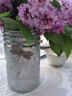 I can make more of these Mercury glass-effect jars for centrepieces