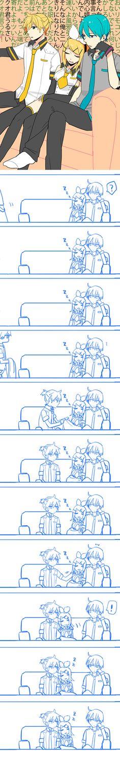 Tags: Anime, Vocaloid, Kagamine Rin, Kagamine Len, Comic