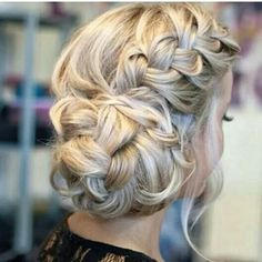 Side bun with wide braid