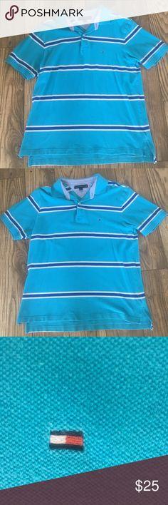 Tommy Hilfiger Men's Polo Shirt (Size: Large) Men's Large Tommy Hilfiger Polo Style Short Sleeved Shirt Tommy Hilfiger Shirts Polos