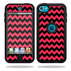 MightySkins Protective Vinyl Skin Decal Cover for OtterBox Defender Apple iPod Touch 5G 5th Generation Case Zig Zag Chevron:Amazon:Cell Phones & Accessories