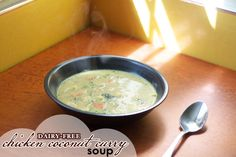 Dairy Free Chicken Coconut Curry Soup