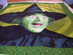 Wizard of OZ Wicked Witch Fleece Panel Fabric by NorthwoodsStitch, $34.95