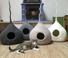 Cat пещера 100 % шерсть тирольском войлочная от WoolyCatCaves