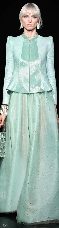 Bleu Turquoise, Armani Prive, Spring Summer Trends, Emporio Armani, Catwalk, Fashion Photography, Gowns, Pantone, Sage