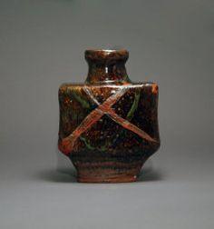 Kawai Kanjiro, Glazed Stoneware Bottle