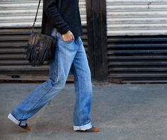 Trends Low-Cost Autumn/Winter 2014 / 2015: Salutes The Jeans Wide Leg