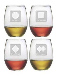 Ski Sayings Stemless Wine Glasses (Set of 4) by Susquehanna Glass Co. at Gilt