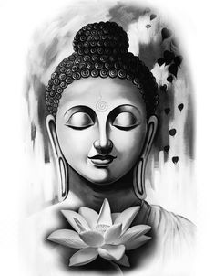 Buddha tattoo design lotus