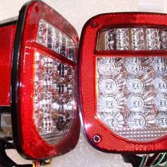 Jeep-TJ-CJ-YJ-Replacement-Tail-Lights-w-Bright-Red-LEDs-0