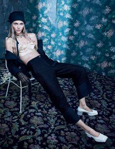 Sasha Pivovarova by Emma Summerton for W Magazine Korea December 2015