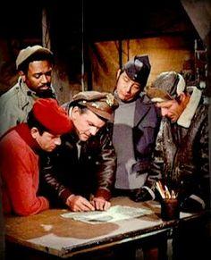 HOGAN'S HEROES/ Bob Crane, Ivan Dixon, Robert Clary, Richard Dawson and Larry Hovis