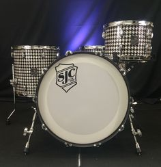 SJC Custom Drums Tre Cool Signature Houndstooth Drum Set!