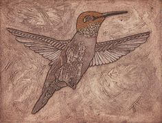 Bonnie Murray's steps for a collagraph print