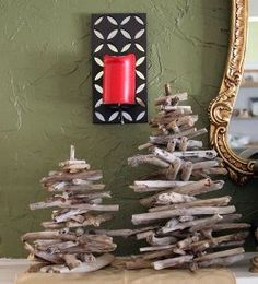 Bring the sunset, the warm sand and the ocean waves into your home for Christmas this year with driftwood decor. Gather driftwood pieces, or twigs if you do not live near a beach, and use them to create your very own Christmas tree. It is a simple and fun way to decorate the house.