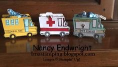 Three Box Trucks by Imastamping - Cards and Paper Crafts at Splitcoaststampers