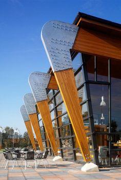 Restaurante, estructura de madera