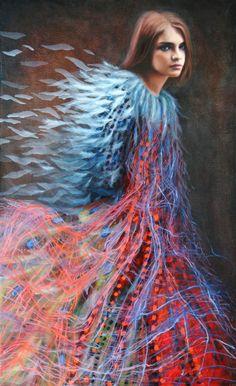 """Saatchi Online Artist: Katya Kvasova; Oil 2013 Painting """"Natalia"""""""