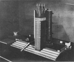 Soviet avant-garde architect Ivan Leonidov's Narkomtiazhprom proposal, 1934 | Flickr - Photo Sharing!