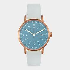 Blue And Rose Gold Horizon Watch, David Ericsson, 2012