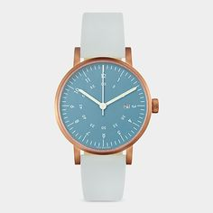 designbinge: Blue And Rose Gold Horizon Watch, David Ericsson, 2012