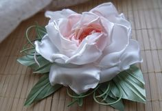 Rose of Satin Peach Rose Rose fabric Peach by VarVaraMay on Etsy