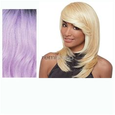 Janet Premium Synthetic Fiber Wigs Flora - Color PT1B/L.PUR/P - Synthetic Regular Wig