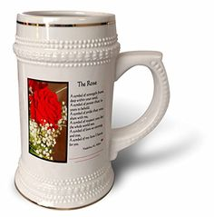 SmudgeArt Flower Art Designs - The Rose With Verse - Photography Flowers - 22oz Stein Mug (stn_6660_1) 3dRose http://www.amazon.com/dp/B01479XZ9W/ref=cm_sw_r_pi_dp_SY8bwb0A0CVFJ