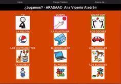 TABLERO DE COMUNICACIÓN PARA ARABOARD: ¿Jugamos?    Tablero de 12 casillas (3x4) del comunicador AraBoard para comunicar el juego al que desea jugar, con la voz grabada por la propia autora.    Descargar AraBoard versión PC:  http://giga.cps.unizar.es/affectivelab/araboard.html    Descargar AraBoard versión Android desde Google Play.    http://arasaac.org/materiales.php?id_material=742