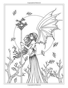 Autumn Fantasy Coloring Book - Halloween Witches, Vampires and Autumn Fairies…: