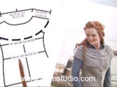 Sheep Happens! / DROPS 194-2 - Gratis strikkeoppskrifter fra DROPS Design Boys Knitting Patterns Free, Knitting Paterns, Free Knitting, Drops Design, Garnstudio Drops, Top Down, Magazine Drops, Wind Jacket, Winter Bride