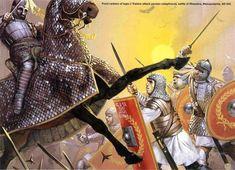 Battle of Rhesiana, Mesopotamia, 243 CE (Romans vs. Sassanid Persians).