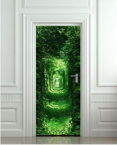 #Green #Emerald #Nature #Doors #Perception #Interior #Design #Home #Crazy #Art #Inspiration #Forest