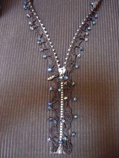 Necklace with Swarovski & bead