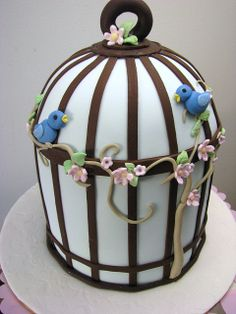 Bird cage cake by Tania's Sweet Cakes, via Flickr